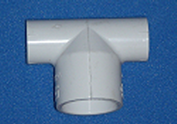 401-074 1/2 by 1/2 by 3/4 bullhead Tee COO: USA - PVC-Fittings-Tees