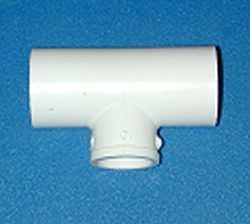 401-053-L Reducing Tee 3/8 x 3/8 x 1/2 COO:CHINA - PVC-Fittings-Tees