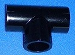 405-010B BLACK 1 Tee FPT 3 sides - PVC-BLACK-Fittings-Tees