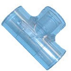 401-010L 1 inch Tee sch 40 CLEAR - PVC-CLEAR-Fittings