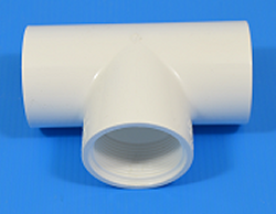 403-007 3/4 FPT (female NPT) x 3/4 S x 3/4 S COO: USA - PVC-Fittings-Tees-TSS