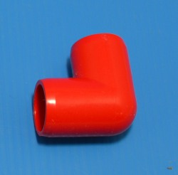 "406-005R RED 1/2"" elbow. COO:UNKNOWN - PVC-Fittings-Colors"