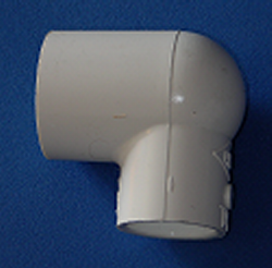 406-130-L Reducing 90 1 x 1/2 COO: CHINA - PVC-Fittings-Elbows-Reducing-90