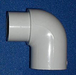 "409-025 2.5"" street 90 COO:USA - PVC-Fittings-Elbows-90-Street"