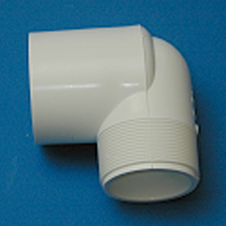 410-102 3/4 MPT x 1 slip socket Reducing Elbow Ell COO: USA - PVC-Fittings-Elbows-90-MPT