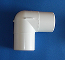 411-2100 2 spigot by spigot Elbow - PVC-Fittings-Elbows-90-Street