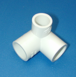 413-101 3/4S x 3/4S x 1/2S COO:USA - PVC-Fittings-3-ways-side-outlet-90s