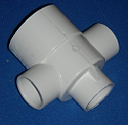 413-1770 Reducing Cross 1.5 x .75 - PVC-Fittings-Crosses