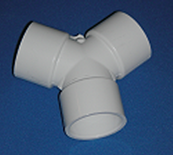 "413-4100 1.5"" True Wye 120° Wye, DIY Hecostix* COO:USA - PVC-Fittings-Wyes-TrueWye"