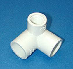414-101 3/4S x 3/4S x 1/2 FPT COO:USA - PVC-Fittings-3-ways-side-outlet-90s