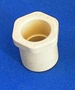 "4140-005 Reducer Bushing 1/2"" sch 40 to 1/2"" CPVC CTS COO:USA - CPVC-CTS-Fittings"
