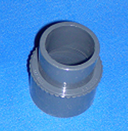 "417-6137 1.5"" spigot x 50mm nominal, 50mm slip DIN - PVC-Fittings-Metric-Adapters"