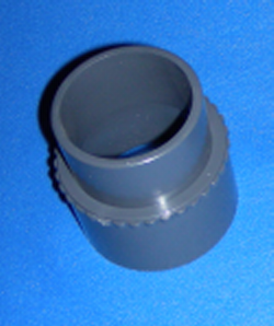 "417-6197 2"" spigot x 63mm nominal, 63mm Slip DIN COO:USA - PVC-Fittings-Metric-Adapters"