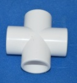 "420-007P 3/4"" cross Furniture Grade Cross COO:USA - PVC-Fittings-Crosses"