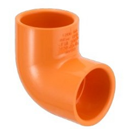 "4206-010 Fire systems Orange 90° elbow 1"" COO:USA - PVC-"