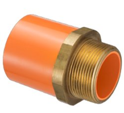 4236-007 Fire systems Orange Male Adapter 3/4 inch - PVC-Fire-Sprinkler-System-Parts