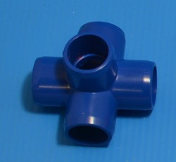 "425-005BLU BLUE 1/2"" 5-Way. COO:UNKNOWN - PVC-Fittings-Colors"