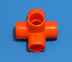 "425-005ORG ORANGE 1/2"" 5-Way. COO:UNKNOWN - PVC-"