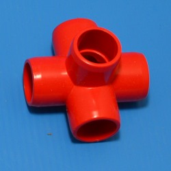 "425-005RED RED 1/2"" 5-Way. COO:UNKNOWN - PVC-Fittings-Colors"