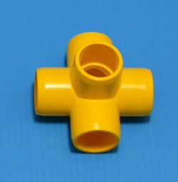 "425-005YEL YELLOW 1/2"" 5-Way. COO:UNKNOWN - PVC-Fittings-Colors"