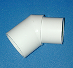 427-012 slip x spigot 1.25 inch 45 elbow COO:USA - PVC-Fittings-Elbows-45-degree-St