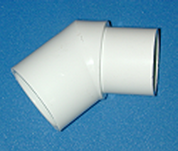 427-015 slip x spigot 1.5 inch 45 elbow BOX of 50 - PVC-Fittings-Elbows-45-degree-St