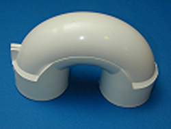 429-4030 PVC 2 inch U Bend **PRESSURE RATED** - PVC-Fittings-U-Bends