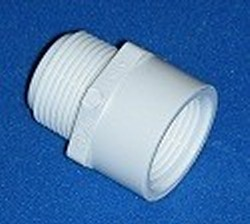 434-005 Sch 40 PVC Riser Extension 1/2 inch mpt x 1/2 fpt COO:USA - PVC-Fittings-Riser-Extensions