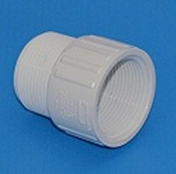 434-012, aka, 446-012 Sch 40 (white) 1.25 inch fitting riser extension - PVC-Fittings-Riser-Extensions
