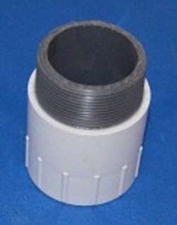 "434-015 Sch 40 PVC Riser Extension 1.5"" White, FPT x MPT - PVC-Fittings-Riser-Extensions"