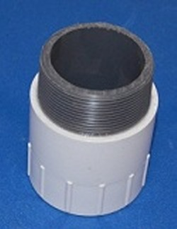 434-030 Sch 40 PVC Riser Extension 3 inch Fabricated Fitting - PVC-Fittings-Riser-Extensions