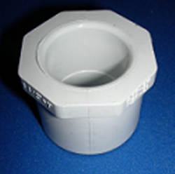 437-250S 2 x 1.25 reducer bushing (Hex head) COO: USA - PVC-Fittings-Reducer-Bushings-Slip-Spg