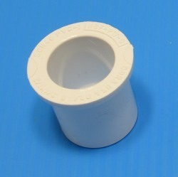 437-211D 1.5 by 1 reducer bushing Round Head COO:USA - PVC-Fittings-Reducer-Bushings-Slip-Spg