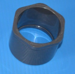 437-212G 1.5 by 1.25 reducer bushing GRAY COO: USA - PVC-Fittings-Reducer-Bushings-Slip-Spg