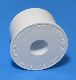 "437-247D 2"" x 1/2"" reducer bushing (Abrupt) COO:USA - PVC-Fittings-Reducer-Bushings-Slip-Spg"