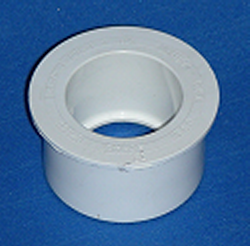 437-250 2 x 1.25 reducer bushing (Round head) COO: USA - PVC-Fittings-Reducer-Bushings