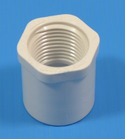 438-101S 3/4 Spigot x 1/2 FPT COO: USA (hex head) - PVC-Fittings-Reducer-Bushings