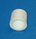 448-025 2.5 FPT (female NPT) sch 40 caps QTY of 20 COO:USA - PVC-Fittings-Caps-Sch40-FPT