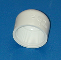 "448-015 1.5"" FPT (female NPT) caps QTY of 50 - PVC-Fittings-Caps-Sch40-FPT"