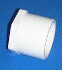 449-003 3/8 inch plug, internal cavity COO:USA - PVC-Fittings-Plugs