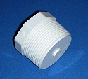 450-012D 1.25 MPT plug External Cavity COO:USA - PVC-Fittings-Plugs