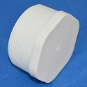 450-025 2.5 inch MPT plug. Internal Cavity COO:USA - PVC-Fittings-Plugs