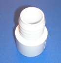 460-015 1.5 barb by 1.5 spigot WHITE - Barb-Adapters-Slip-Spigot