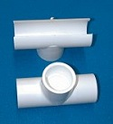 464-130 1 x 1/2 inch FPT (female NPT) snap Tee COO:USA - PVC-Fittings-Tees-Snap-Pressure