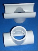 463-486 5 inch x 2 inch pvc snap Tee  - PVC-Fittings-Tees-Snap