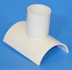 "463-420 Saddle Tee 4"" x 2"" COO:USA - PVC-Fittings-Tees-Saddles"