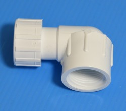 508-007 FGH by .75 FPT (female NPT) 90°, WHITE - GardenHose-Female