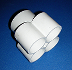672-4620 1.5 by 4(1 inch ports) - PVC-Distributors