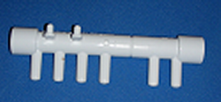 672-4690 1/2 in & out, 6 3/8 barbs - Barb-Manifolds