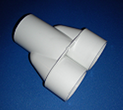 672-8000-1 Manifold Wye 2 inch x 1 (No Cancellation or Refund) - PVC-Fittings-Wyes-Manifold-Wyes